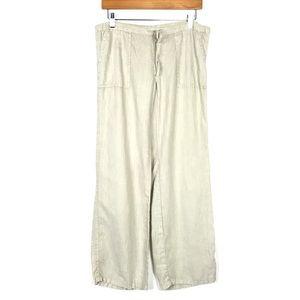 Victoria's Secret Linen Pants Sz 2 Short Wide Leg